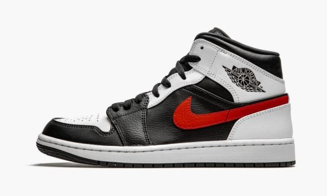 Air Jordan 1 Mid ¨Chile Red¨ Black/Chile Red-White